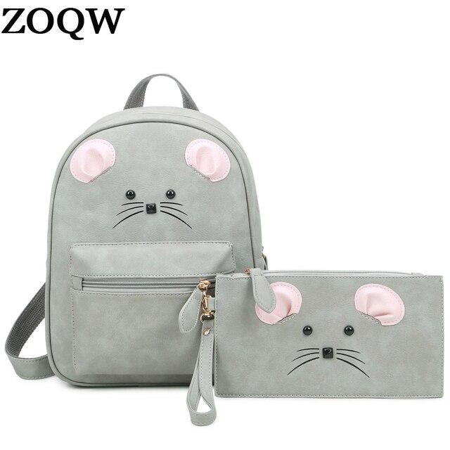 2017 Cute Small Backpacks For Teenage Girls PU Leather Backpack ...