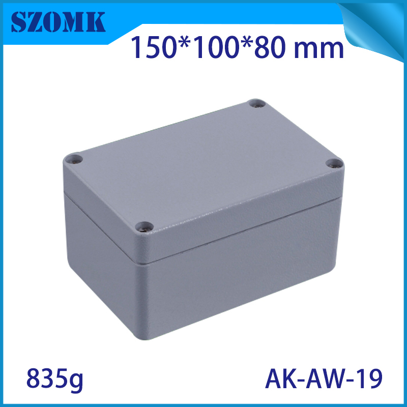 Aluminum Exterior Electrical Enclosure Outdoor Waterproof Use for Electronics PCB Box Connection Junction Box Project Case ip65 300x270x112mm waterproof junction box plastic project box electrical connector terminal outdoor enclosure box wall mounting