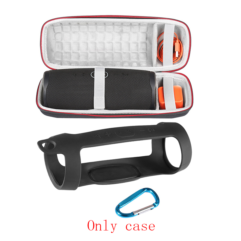 Image 3 - 2 in 1 Hard EVA Carry Zipper Storage Box Bag+ Soft Silicone Case Cover for JBL Charge 4 Bluetooth Speaker For JBL Charge4 ColumnSpeaker Accessories   -