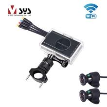 VSYS 2CH автомобиля регистраторы Wi-Fi Dual 1080 P спереди и сзади 170 градусов Широкий формат камеры для Видеорегистраторы для мотоциклов Запись системы