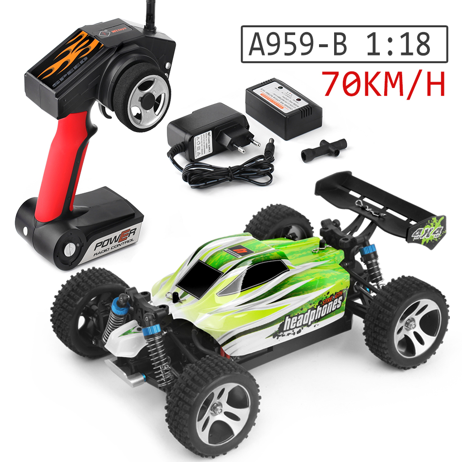 Wltoys A959-B 1/18 70km/h High speed off-road 4WD RC Buggy A959/A959-A Upgrade Version 2.4G Remote Control Cars Toys Hobbies wltoys 12402 rc cars 1 12 4wd remote control drift off road rar high speed bigfoot car short truck radio control racing cars