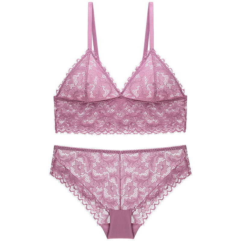 sexy bra set violet 6