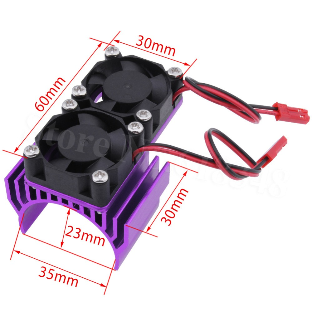 Rc Parts Brushless Electric 550 540 Motor Heatsink With 2