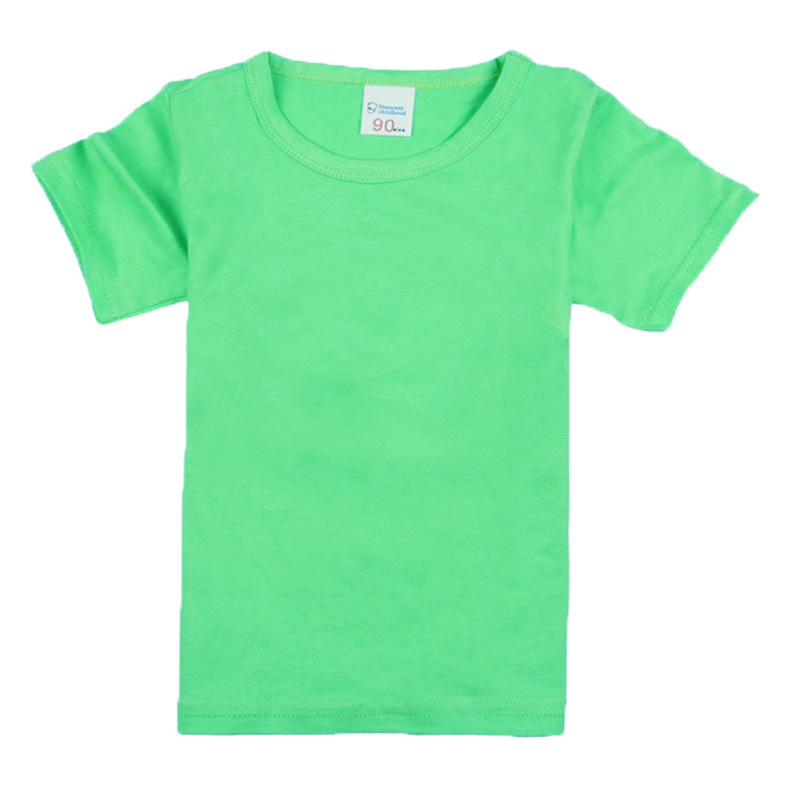 T-Shirts Short-Sleeves Boys Clothing Tees Tops Girls Kids Children Summer New-Brand Solid