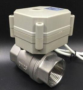 Image 1 - In ottone/Acciaio Inox 1 Valvola Proporzionale 0 10V 4 20mA 0 5V 2 Way DN25 tensione DC12V DC24V Per Acqua Controllo Modulante