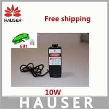 Freies verschiffen DIY 10 watt lasermodul, 450nm blaue licht laser, DIY große power laser maschine 10 watt laserkopf