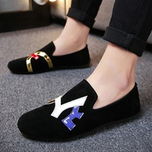 Mens Loafers British Canvas Low Gang Korean Version of The Fashionable Society Young Man Foot Shoes Tide 5