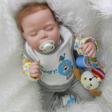 Alive Sleeping Reborn Baby Dolls 20 Inch Soft Silicone Babies Boy Newborn Doll With Clothes Kids Accompany Sleeping Toy