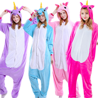 UK Stock Boy Girl Unicorn Anime Pyjamas Cosplay Pajamas Unixes Animal Cosplay Costume Fancy Dress Halloween