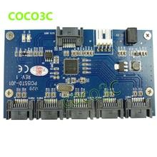 Free shipping multi SATA 1 to 5 Port SATAII / SATA2 Multiplier adapter riser card