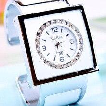 2016 Marque Diamant En Acier Femmes Strass Cristal Montres Dames De la Mode Féminine Horloges Femmes Quartz Bling Robe Bracelet Montres