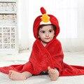 Bebé de la Historieta Animal Cosplay Foto atrezzo Manta de Recepción Diseño Rojo Angry bird Baño Del Niño Recién Nacido saco de Dormir de Franela Bata