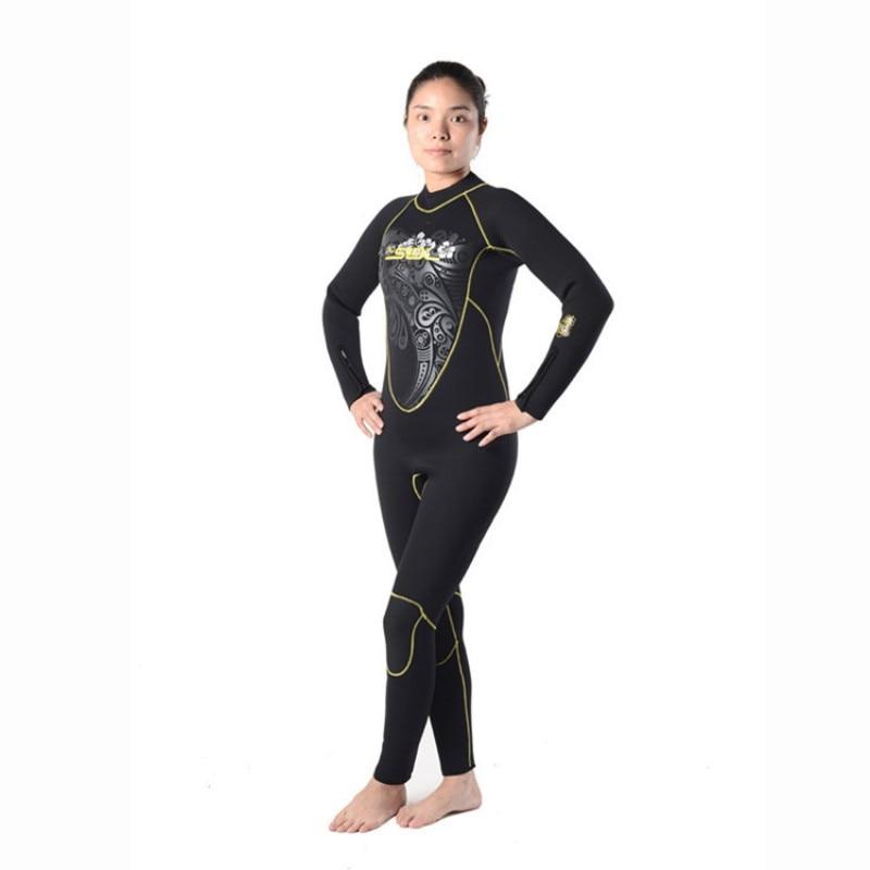 ФОТО 5mm and 3mm Brand NEW 2017  Neoprene Warm Wetsuit Scuba Diving Suit Women Spearfishing Windsurfing Snorkeling Swimwear Fleece Li