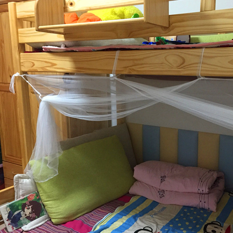 Anti mosquito net single bed square nets for adult student dormitory mosquito net bunk bed netting moustiquaire lit klamboe