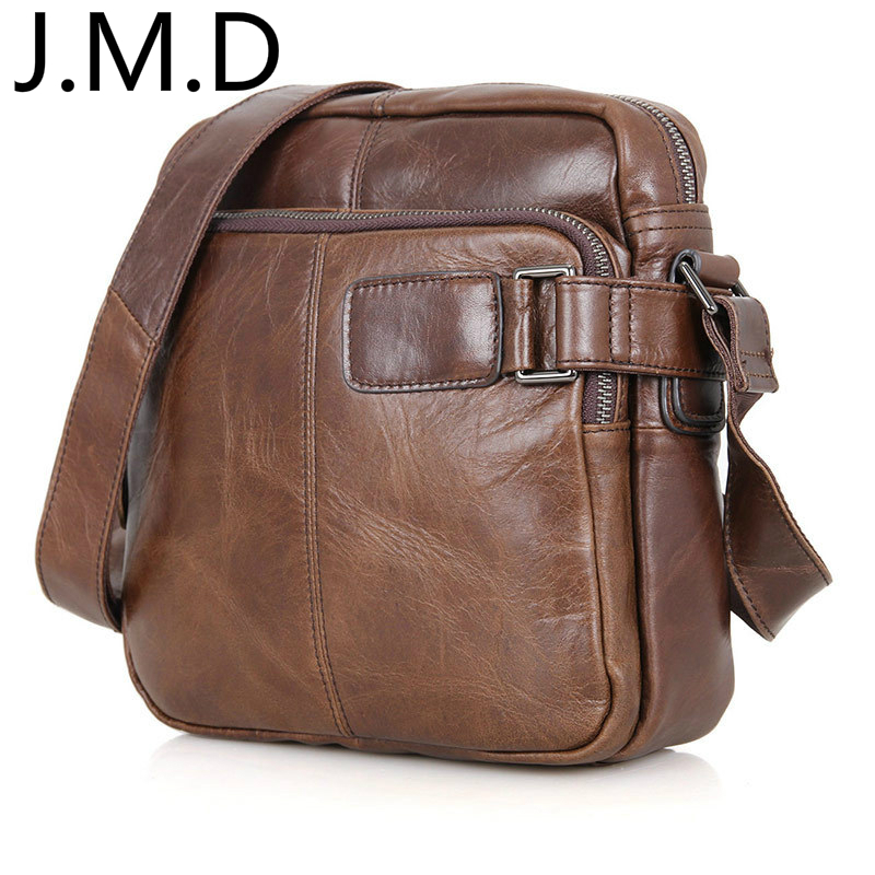 J.M.D 100% Genuine Vintage Leather Messenger Bags For Men Dark Brown Shoulder Bag Handbags Purse 6012 new arrival 20w 2500lm epistar cob chip h1 led head lights bulb 12v 24v auto car daytime running light headlights 6000k white