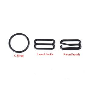 Image 5 - Hebillas de ajuste de correa de sujetador de Metal/Plástico, anillos deslizantes para ropa interior, Clips para ajuste de lencería, accesorios DIY, 20 Uds. 6mm ~ 25mm