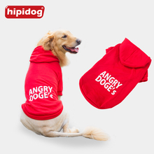 Hipidog Large Dog Coat Jacket Clothes for Big Dogs Golden Retriever Labrador Autumn Winter Pet Hoodie Sportswear Outwear 3XL-7XL