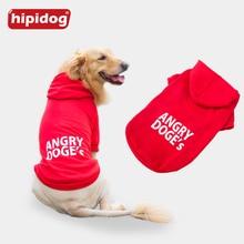 Hipidog Large Dog Coat Jacket Clothes for Big Dogs Golden Retriever Labrador Autumn Winter Pet Hoodie Sportswear Outwear 3XL-7XL