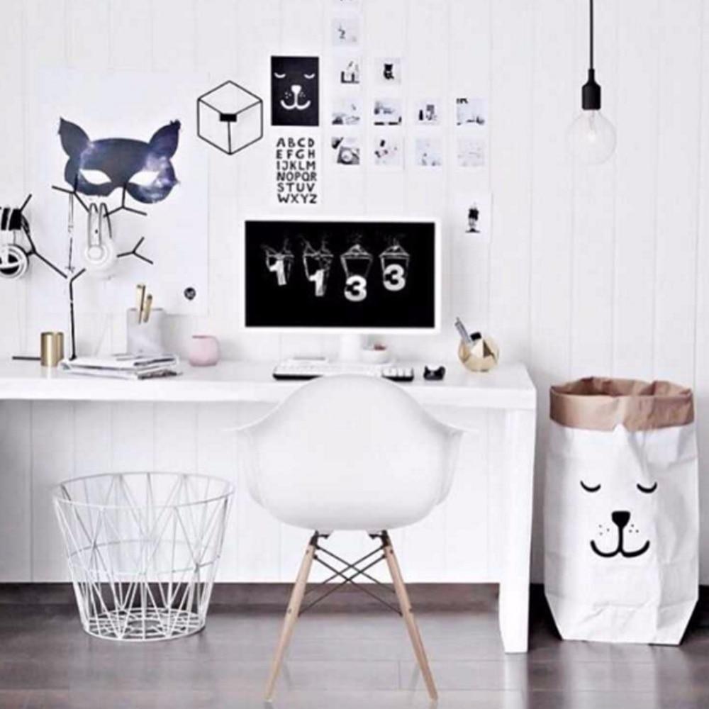 INS Fashion Eco-vriendelijke zware Kraft papieren zak kinderkamer - Home opslag en organisatie - Foto 3