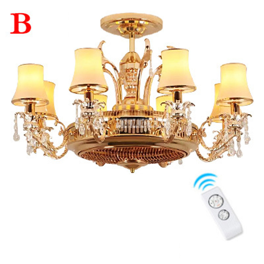 New Arrival HJ 510 220v 20W Ceiling Fan Lights Living Room Restaurant Study Silent Fan Light Simple Fan Lamp With Remote Control