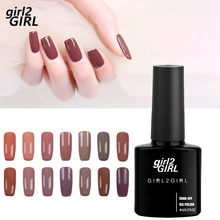 GIRL2girl Gel UV LED Lacquer Polish Long Latest Soak Off  Manicure 8ml 280 Colors Super shining Nail Light Brown set
