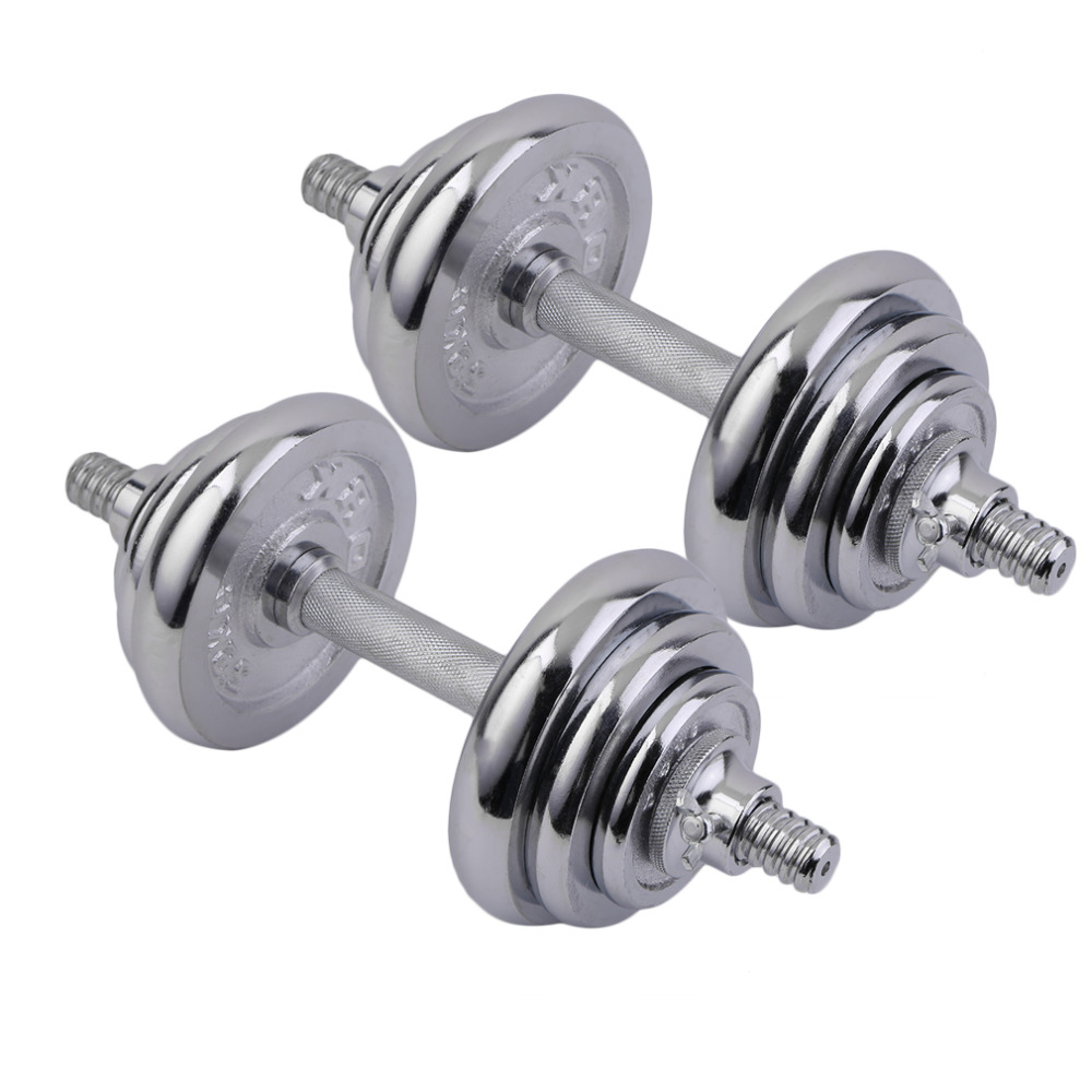 2018 Hot Sale 20kg Men's Electroplating Dumbbell Set Box Fitness Equipment Gym Lifting Exercise Adjustable Tool weights Barbells adjustable water dumbbell weights for fitness and bodybuilding equitment high quality