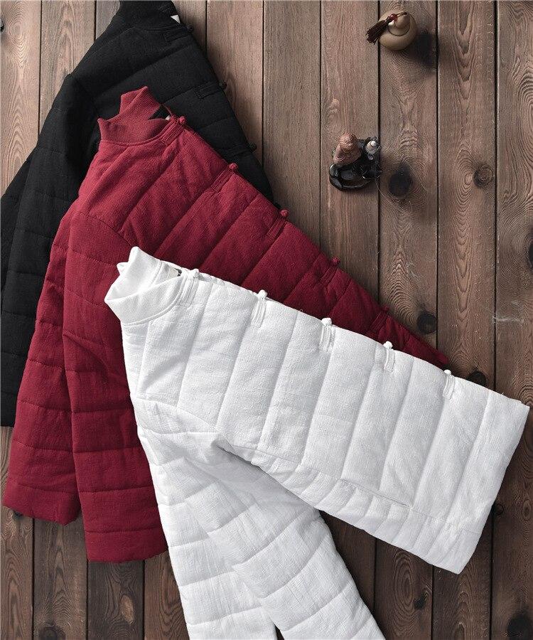 white Cappotto burgundy Spessore Con Black Casual Inverno Yf A Suvance V Di Donne Colore Scollo Size 3 Vintage bxf2351 Solido Cotone One napxqwxRS1