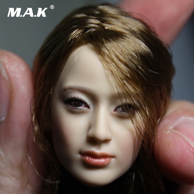 Head 1 6 Head Sculpt KM13-8 Female Figure Doll Head Carving Model for 12