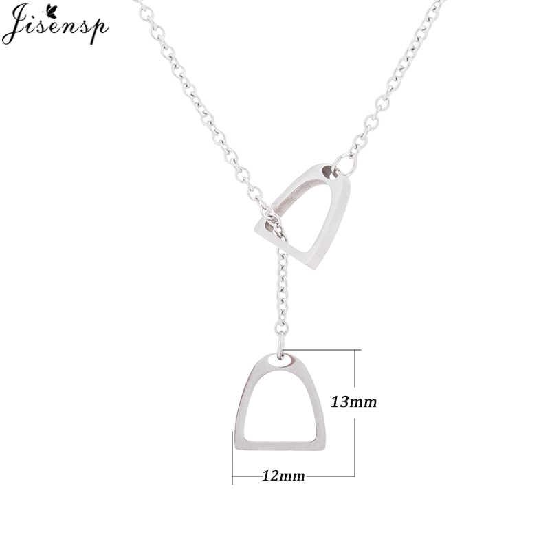 Jisensp Новые многослойные мужские т ожерелья Y стиль цепи лошадь копыта подвески с подковами ожерелья унисекс ювелирные изделия для мужчин/женщин
