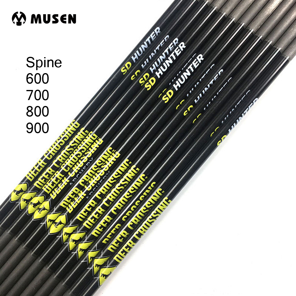Carbon-Arrow-Shaft Archery Spine-600-700 Shooting Id-4.2mm Pure OD 12pcs For 800-900