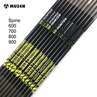 12pcs 30 inches Pure Carbon Arrow Shaft Spine 600 700 800 900 OD 5.7mm ID 4.2mm for Hunting Shooting Archery