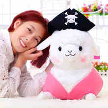 Creative star models pirate sheep dolls, alpaca plush toy, alpaca dolls, birthday gift girls,free shipping