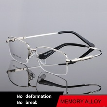 54-17-140 The frame of new high-end titanium memory glasses myopia men half glasses 8028 eyeglasses oculos de grau free shipping