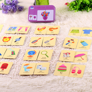 Image 4 - Children Educational Game Puzzle Montessori Baby Cards Toys Graph Match Kids Cognitive Early Cartoon Vehicle Learning Card