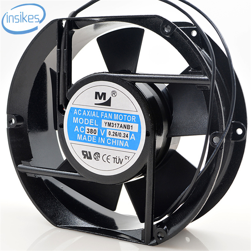 DHL Free YM317ANB1 AC 380V 0.26A 22W 3350RPM 17251 17cm 172*150*51mm 2 Wires Cabinet Axial Cooling Fan original s a n j u sj1738ha2 172 150 38mm 220vac 0 31a axial fan