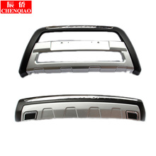 Free shipping ,High Quality Car styling Plastic Front+Rear Bumper Guard Protector For Mitsubishi Outlander 2013-2015 Car-styling