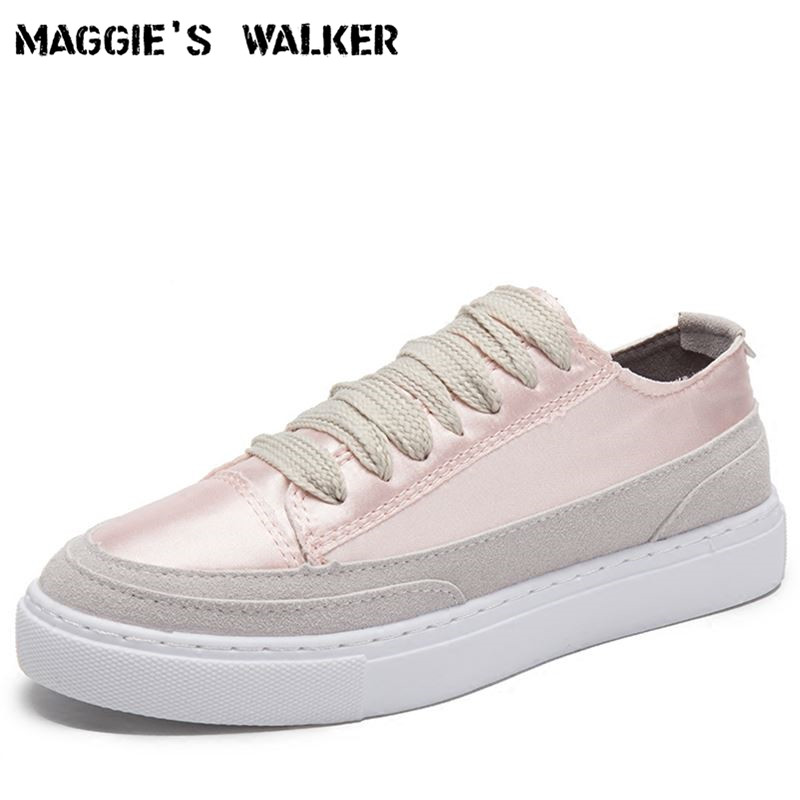 Maggie's Walker New Arrival Candy-colored Women Fashion Lacing Canvas Casual Shoes Platform Silk Shoes Purple Size 35~39 free shipping new arrival 2017 women trendy candy colored slip on canvas shoes platform canvas casual loafers size 35 40