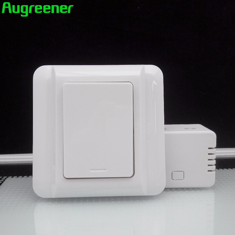 Augreener 2017 Hot Sale Wireless Switch Remote Control Wall Light Switches 70 Long Range Waterproof No Battery Free Shipping hot sale remote control wireless 3 sockets mobile phone gsm sim smart socket switch free shipping