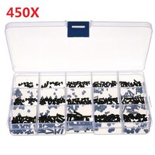 450Pcs/Set Laptop Computer Screws Kit Assemble Fastening Flat Head Black Repair Case For IBM For Dell For Lenovo For Samsung(China)