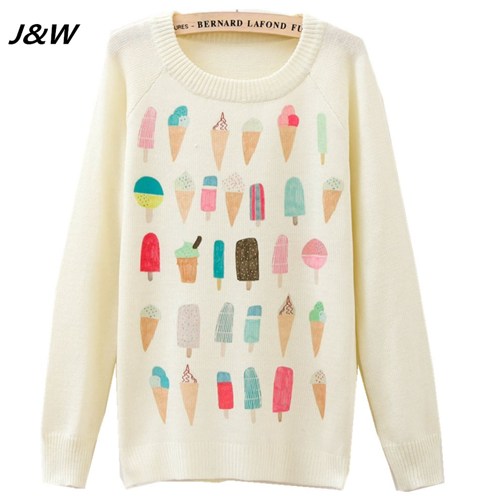 J&W Women Sweater Warm O Neck Sweaters Pullover Casual Long Sleeve ...