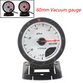 60MM D*FI CR Vacuum gauge (-1~0) WHITE Face Vacuum meter with Red & White Lighting /auto gauge/tachometer/car meter LED LIGHT