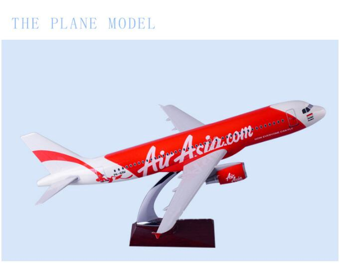 47cm Resin A320 Air Asia Aircraft Model Asian Airlines Great British Airways Boeing 777 England Airplane Plane Gift Toy