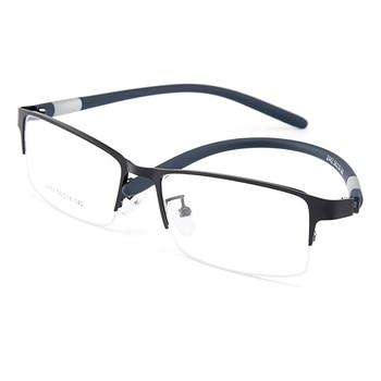 Gmei Optical Men Titanium Alloy Eyeglasses Frame for Men Eyewear Flexible Temples Legs IP Electroplating Alloy Spectacles Y2442 8