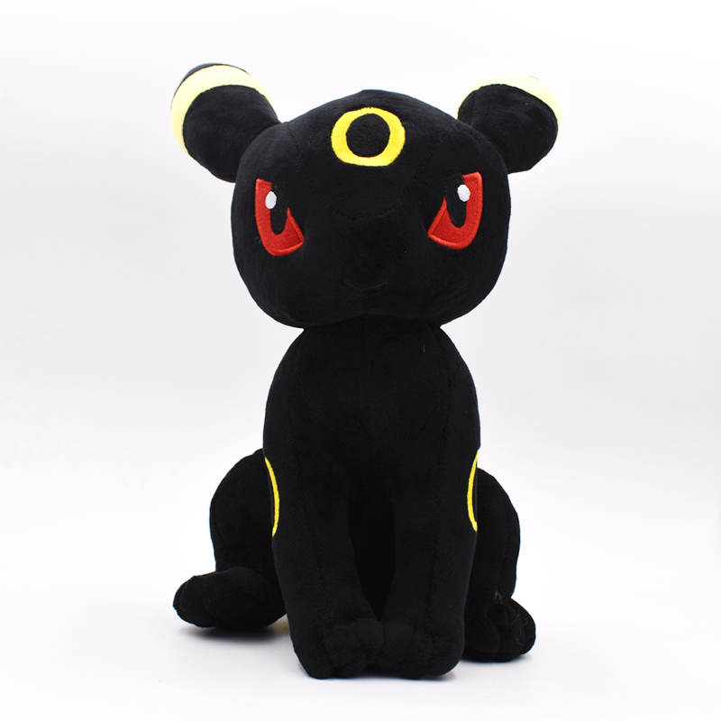 New Sitting Umbreon Eevee Plush Toy Figures Toys Soft Stuffed Anime Cartoon Dolls Kids Gift Big Size 30cm Free Shipping