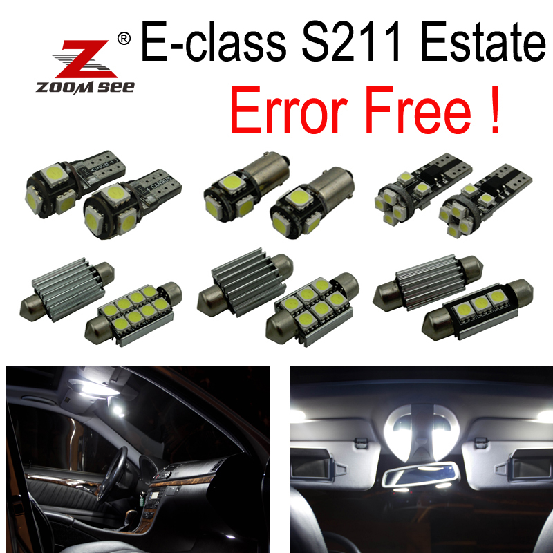 28pc LED interior dome Light Kit For Mercedes Benz E class S211 Estate Wagon E200 E230 E240 E270 E280 E320 E350 E500 E63 AMG 10pcs error free led lamp interior light kit for mercedes for mercedes benz m class w163 ml320 ml350 ml430 ml500 ml55 amg 98 05