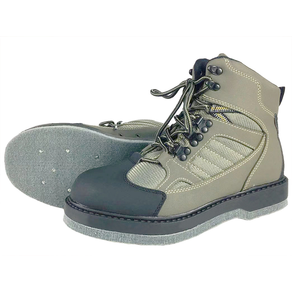 Fly Fishing Wading Upstream Hunting Shoes Leaking Water Shoe Felt Anti Slippery Sole 12 Nail Professional