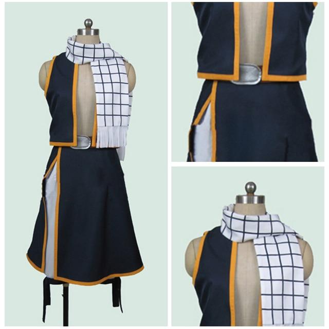 Fairy Tail Japanese Uniform Anime Cosplay Natsu Dragneel Cosplay