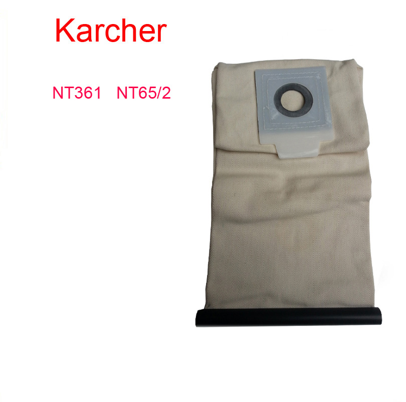 karcher Washable Cloth Bags NT361 NT65/2 vacuum cleaner bag Reuse Pattern parts Free Shipping karcher vacuum cleaner bag washable cloth bags for bv5 1 reuse pattern parts free shipping