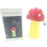 Cartoon Mushroom Lamp Humidifier 5V USB Touch LED Night Lights Lighting Air Purifier For Car Bedroom