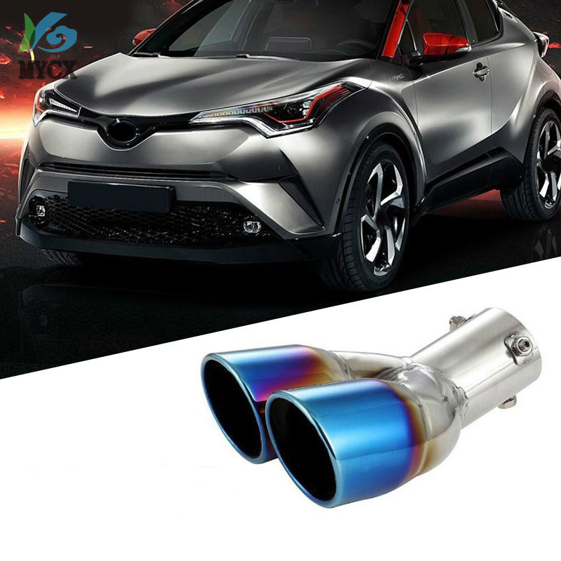 2016 2017 2018 For Toyota C-HR C HR CHR Exterior Accessories Exhaust End Tip Pipe Muffler Stainless Steel 1 Piece
